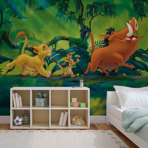 Papel Tapiz Fotomural 3204VEXXL -Disney El rey león - XXL - 312cm x 219cm - 3 Tiras - impreso en papel 130g/m2 EasyInstall