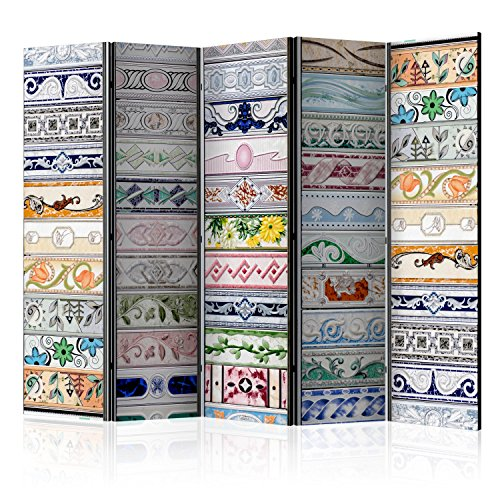 murando - Biombo con Tablero de Corcho Mosaico 225x172 cm - de impresión Bilateral Lienzo de TNT Foto Biombo Decorativo para Interiores – Dibujo f-B-0187-z-c