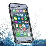 iPhone 6 Plus/ 6S Plus Wasserdichte Handy Hülle Case Moonmini® Outdoor Staubdicht Schneedicht Stoßfest Anti-Rutsch schutzhülle mit Displayschutz Touch-screen, ID Berühren für iPhone 6 Plus, 6S Plus (2017)