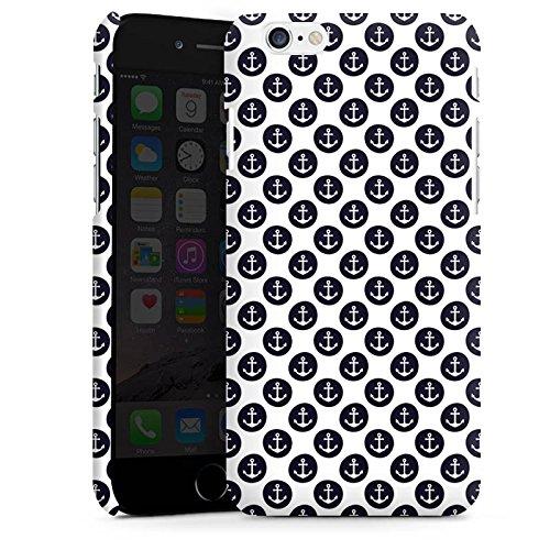 Apple iPhone X Silikon Hülle Case Schutzhülle Anker Muster Anchor Matrose Premium Case matt