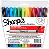 Permanent Marker, Ultra Fine Tip, Assorted, 12/Set SAN37172 by Sharpie