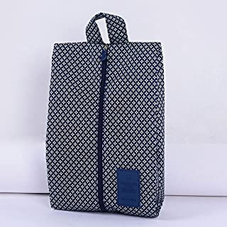 Addfun reg;Portable Waterproof Nylon Travel Shoe Bags with Zipper Closure,Pack of 2