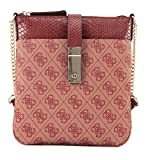 GUESS Nissana Mini Crossbody Top Zip Bordeaux