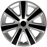AUTOSTYLE PP 5153SB Set di 4 Copricerchi VR 13 Pollici Argento/Nero