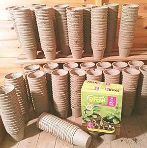 Suttons semina e coltivazione Jiffy vasi di 8 cm , 32 pezzi