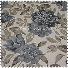 con textura diseo moderno diseo floral blanco marrn azul felpilla tela para tapizar