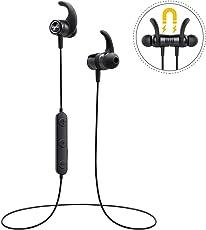 Bluetooth Kopfhörer In Ear, Mpow S10 IPX7 Wasserdicht Sport Kopfhörer, 8-10 Stunden Spielzeit/ Dreiband-EQ/ Bluetooth 4.1/ HD-Mikrofon, Sportkopfhörer Joggen/ Laufen/ Fitness, Magnetisches Headset für iPhone Android Samsung iPad Huawei HTC usw