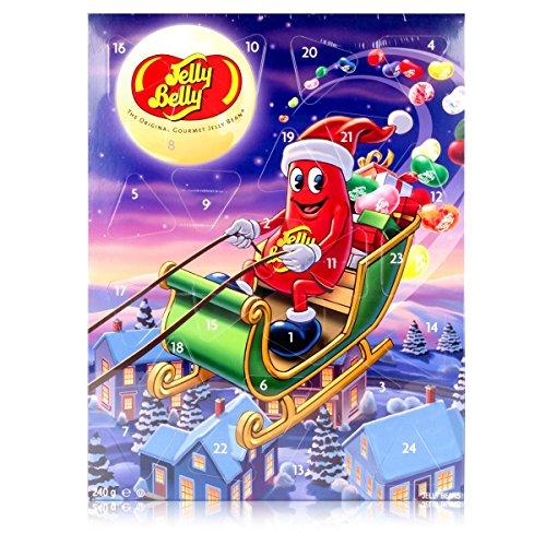 Jelly Belly Beans Adventskalender 24x10g Beutel - Weihnachtsüberraschung