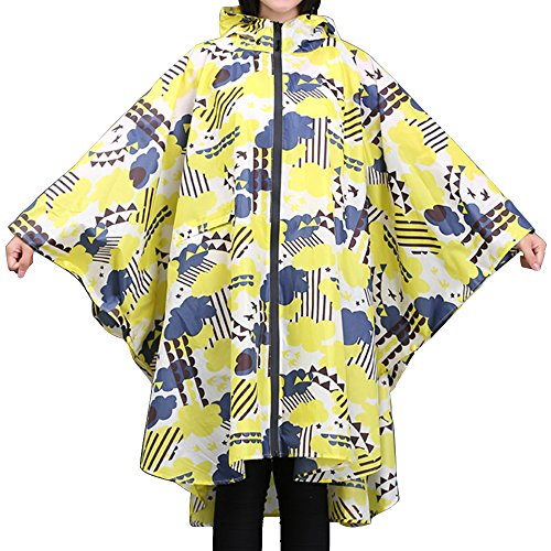Spring fever Adult Style Light Couple Breathable Waterproof Cape Raincoat