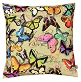 Air Castle- Home Decore- Polyester & Polyester Blend- Vintage Butterfly Cushion Cover best price on Amazon @ Rs. 844