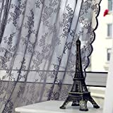 Best Home Fashion Sheer Curtains - Zibuyu Door Window Sheer Curtain Drape Panel Leaf Review