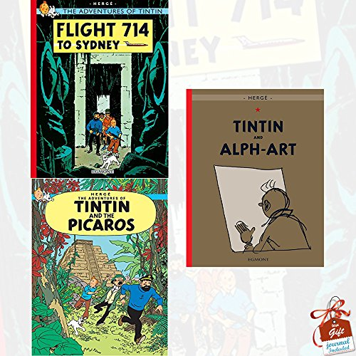The Adventures of Tintin Collection 3 Books Set Series 5 With Gift Journal (Flight 714 to Sydney, Tintin and the Picaros, Tintin and Alph-Art)