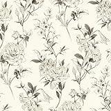 BHF 450-67369 Jolie Toss Tapete mit Blumenmuster, Cremefarben