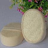 Generic 1 Pc Soft Fresh Natural Loofah Luffa Sponge Shower Spa Body Scrubber Exfoliator Bathing Massage Brush Pad Beige