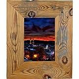 Bilderrahmen aus echtem Alt-Holz im Landhaus-Stil vintage, rustikal - handgefertigte Unikate in dunkel-braun 50X70 Leiste 7cm