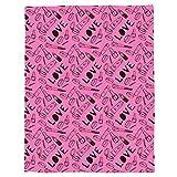 bdfdfb Kuscheldecke Lammfell,Mädchen werfen Decke Kosmetik und Make-up Thema Muster mit Parfüm Lippenstift Nagellack Pinsel warme Microfiber-STW02502_100X125CM