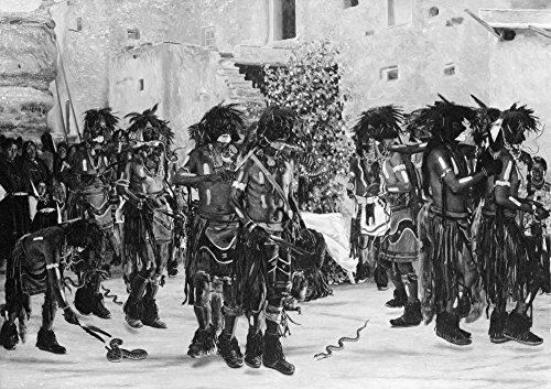 The Poster Corp Hopi Snake Dance C1909. /NA Hopi Snake Dance Ritual In Walpi Arizona. Lithograph C1909. Kunstdruck (60,96 x 91,44 cm) -