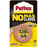 Pattex No Más Clavos Cinta, cinta adhesiva para aplicaciones permanentes, cinta de doble cara extrafuerte, adhesivo de montaj