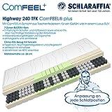 Schlaraffia Highway 240 TFK ComFEEL 7-Zonen Taschenfederkern-Matratze H3 (80 x 200cm)