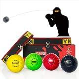 YMX BOXING Pelotas de Reflejo/Boxing Reflex Ball — 4 Pelotas de Reacción de Reflejo más 2 Ajustables, Ideal para Reflejos, Si