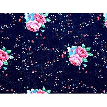 NEW M//Weight  Polyester White-Navy Polka Dot Print Dress//Craft Fabric FREE P/&P