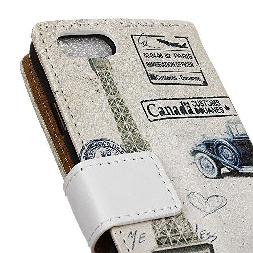 Voguecase® für Apple iPhone 7 4.7 hülle,(Gelb Leopard) Kunstleder Tasche PU Schutzhülle Tasche Leder Brieftasche Hülle Case Cover + Gratis Universal Eingabestift Uralte Auto