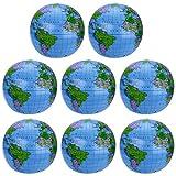 8 Packung Aufblasbarer Erdkugel Inflatable Globe PVC Weltkugel Erde Wasserball
