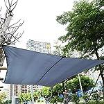 Cocoarm Sonnensegel Rechteck wasserabweisend Sonnenschutz Garten Balkon und Terrasse wetterbest?ndig Windschutz…