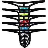 Men's Sexy See-through Striped G-String Thong Underwear