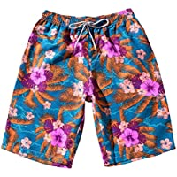 Pantalones cortos hombres , ❤️ Manadlian Pantalones de verano para hombres Parejas Beach Bohe floral Bañador Pantalones de níquel de los troncos Talla extra