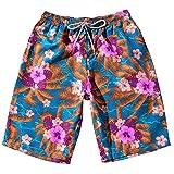 Pantalones cortos hombres , ❤️ Manadlian Pantalones de verano para hombres Parejas Beach Bohe floral Bañador Pantalones de níquel de los troncos Talla extra (CN:XXXXXXL, Azul)