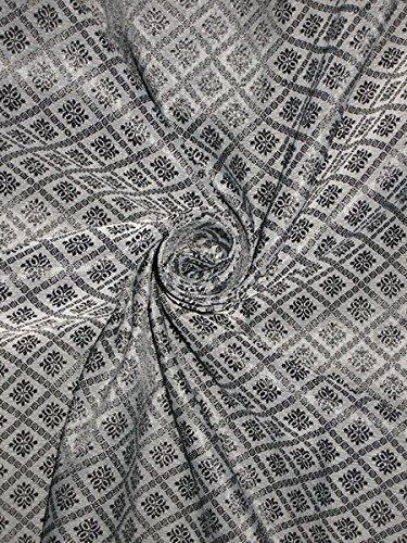 Brokat Stoff grau & schwarz Farbe Hobby, Home Decor, Nähen, Mode, Puppe Kleid, Einrichtung, innen. - Schwarz Home Decor