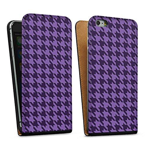 Apple iPhone 5 Housse étui coque protection Lilas Points Sac Downflip noir