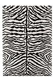 Teppich 'Zoey Zebra' Schwarz (120x170cm)
