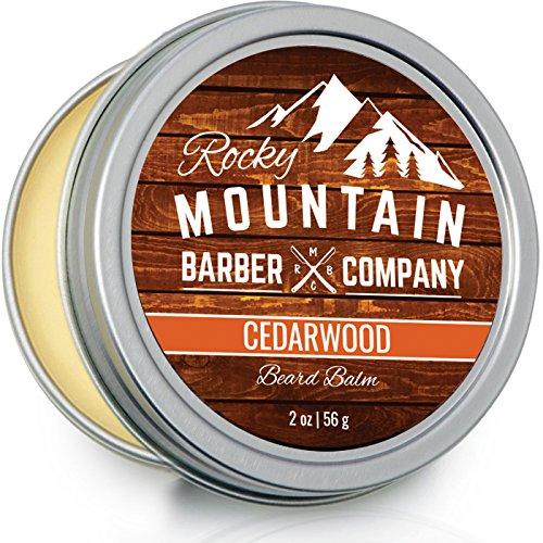 Bart Balm-Rocky Mountain Barber-100% Natur-PREMIUM WACHS Blend mit Zedernholz Duft, Nährstoff Reichhaltige Bienen Wachs, Jojoba-, Tea Tree, Coconut Oil von Rocky Mountain Barber Company