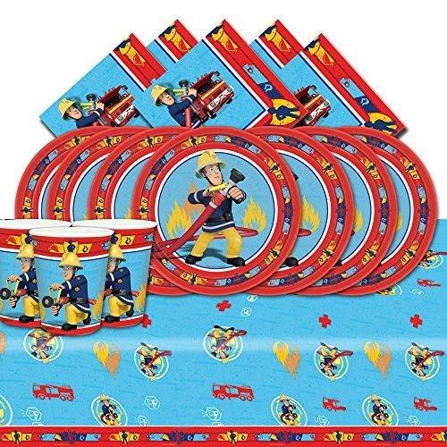 Feuerwehrmann Sam komplett Party Supplies-Kit blau für (Party Supplies Feuerwehrmann)