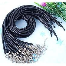 Skyllc® 10 X caucho elástico Colgante Cadena Cable + corchete de la langosta