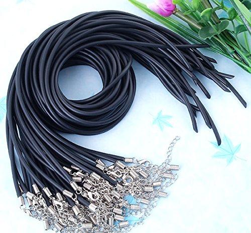 Ecloud Shop [P778] 3MM black leather cord * 10