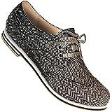 Aris Allen Women's Herringbone Canvas Wingtip Dance Shoes