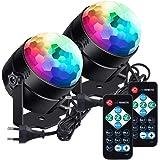 La boule disco a mené la lumière disco lunsy de 6 couleurs RVB LED contrôlée par la musique de fête Disco Light Effets La lum