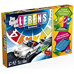 Hasbro A6769100 - Spiel des Lebens Banking, Familien-Brettspiel, deutsche Version Das Spiel des Lebens