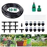 Micro Drip Bewässerung Kit, Migimi DIY Bewässerungssystem automatische Bewässerung automatische Sprinkler für Garten, Landschaft, Flower Bed, Terrasse Pflanzen - 10m Automatik Micro Drip Kit -
