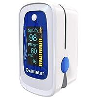 Saturimetro Da Dito MOMMED,Pulsossimetro,Pulsossimetro da Dito con allarme | Letture accurate SpO2, indice di perfusione…
