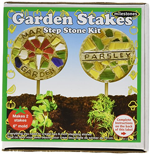 Midwest Products Milestones Stepping Stone Kit Garden Stake, Acrylic, Multicoloured