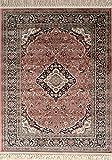 Deco Italia Tappeto Persiano Rosa Antico Alta qualità - Oriental Ancient Pink | 60 x 120 cm