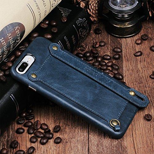 Original SUMGO echt Leder iPhone 6 Plus Schutzhülle Hülle Hard Cover Back Case Tasche - in Rot Blau
