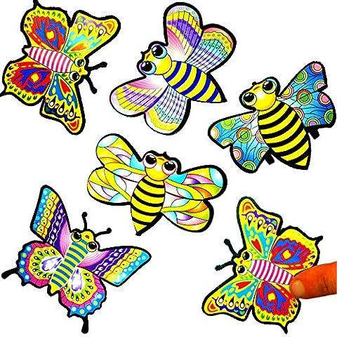 German Trendseller® 12 x papillons avec pull-back┃Racer┃l'anniversaire d'enfant┃petit cadeau┃idée cadeau┃mélange de couleurs┃bolide de