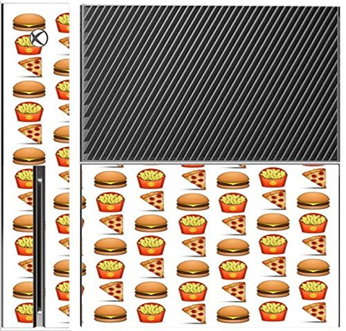 pizza-burger-and-fries-design-yum-xbox-one-console-vinyl-decal-sticker-skin-by-debbies-designs-by-de