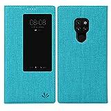 Eastcoo Huawei Mate 20 Hülle, Premium PU Leder Smart Flip Case Tasche Schutzhülle Handyhülle mit [Wake up][Standfunktion][Magnetic Closure] für Huawei Mate 20 Smartphone(Mate 20, Blue)