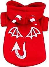 Generic Pet Dog Cat Luminous Devil Hoodies Clothes Shirts Kleidung Jacket Multi - Red, L